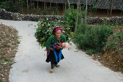 Mother with child, minority people, hill tribe, local people